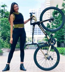 福田萌子,ロードバイク,画像