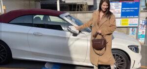 車,女性,画像