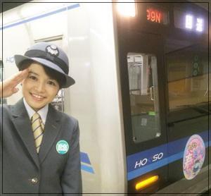 女性,電車,画像