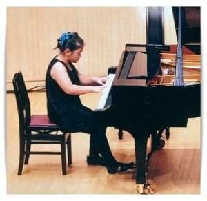 少女,ピアノ,画像